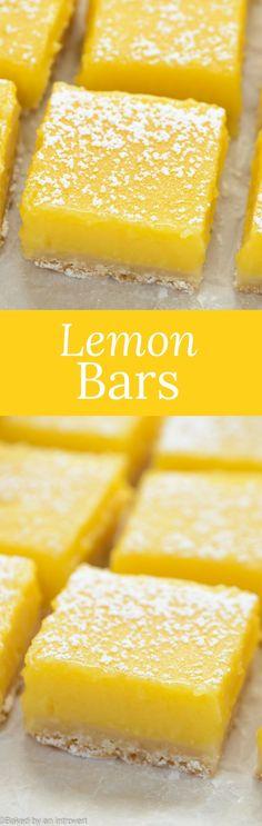 Lemon Bars | Dessert | Made from Scratch via @introvertbaker