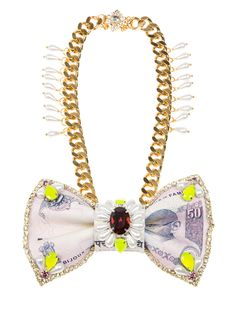 BIJOUX DE FAMILLE - Colaba bow tie necklace