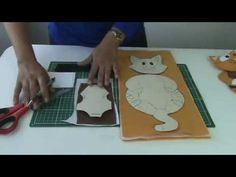 Porta - copo de gatinho Passo a passo com Arte de Paninho - YouTube