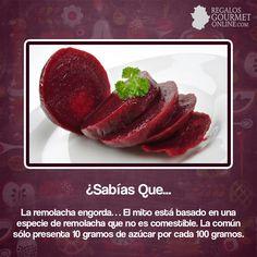#SabíasQue La remolacha engorda?#Curiosidades#Gastronomía