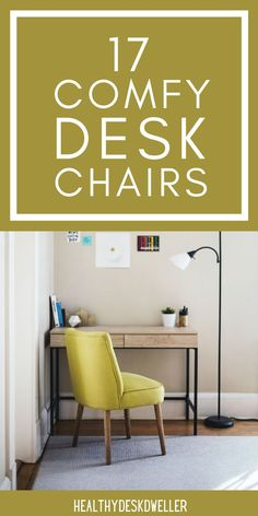Time to upgrade your home office desk chair? These chairs are both stylish and functional! They'll add incredible ambiance to your existing home office decor and are also ergonomically designed for your body. Wood Office Desk, Home Office Desks, Home Office Furniture, Furniture Ideas, Desk Chair Comfy, Modern Desk Chair, Cozy Chair, Modern Office Decor, Most Comfortable Office Chair