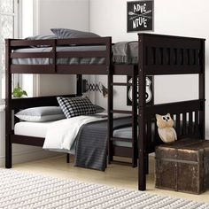 Harriet Bee Ayres Twin Loft Bed with Drawers and Shelves Bunk Beds With Storage, Bunk Bed With Trundle, Full Bunk Beds, Bunk Beds With Stairs, Kids Bunk Beds, Twin Futon, Full Daybed, Mission Style Furniture, Low Loft Beds