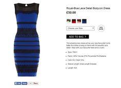 Como ves el vestido azul o blanco