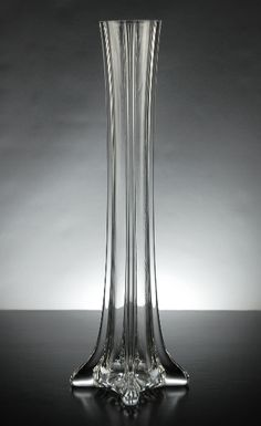 "12"" Clear Glass Eiffel Tower Vases $3.99 each / 6 for $3  each"