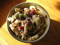 Bear Country Kitchen: D'Amico & Sons Turkey with Dried Cherries Pasta Salad