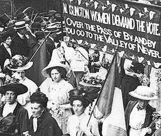 In 1897 small groups of women joined forces to form the National Union of Women's Suffrage Societies. (NUWSS) led by Millicent Garrett Fawcett who maintained that peaceful protests were the only way to achieve equal rights for women. Millicent strongly believed that violence or trouble caused by protesters would only prove to men that women could not be trusted with the right to vote.