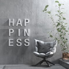 Happiness Sign - Wall Art Piece - 3D letters - Wall Decor - Wall Hanging - Kitchen Decor - SKU:HAPS