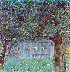 Gustav Klimt - Farmhouse in Upper Austria - 1911 Oil on canvas 110 × 110 cm