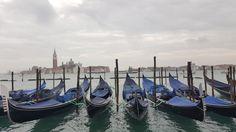 Gondolas outside San Marco