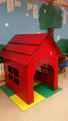Snoopy Reading Doghouse instead of a reading loft.