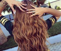 Fryzury Brązowe włosy: Fryzury Długie Na co dzień Kręcone Rozpuszczone Brązowe - ombre - 2818578
