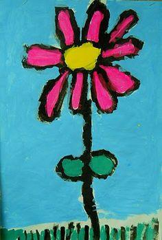 Kindergarten Flowers  Spring - amazing art resourse