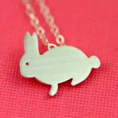 Buddy Bunny Silhouette Necklace in Silver by ANORIGINALJEWELRY, $55.00