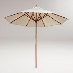 Une guirlande led unique conçu pour ce fixer sur les baleines de votre parasol. 72 led blanche Alimentation solaire