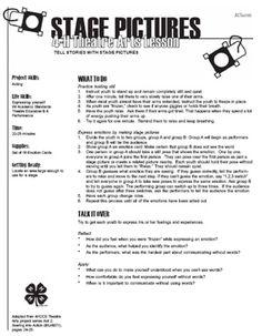 High School Drama Worksheets | School Worksheets
