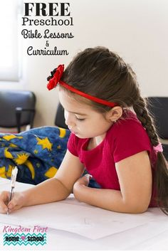 Free Preschool Bible Lessons and Curriculum for your kids.