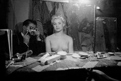 Frank Horvat, Paris Le Sphynx, Self Portrait with stripper, 1956.