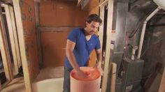 Scott McGillivray relies on Schluter®-DITRA in his tile installation projects. DITRA is a waterproof, uncoupling membrane that sits between the substrate and. Basement Remodeling, Bathroom Renovations, Bathroom Hacks, Bathroom Ideas, Diy Home Repair, Home Upgrades, Scott Mcgillivray, Tile Installation, Home Repairs