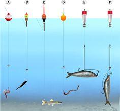 Rôzne typy a štýly dlhodobého Bobber Rybárske Rig