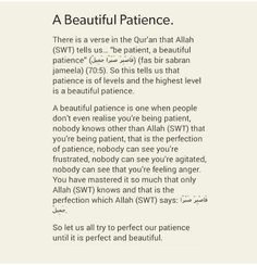 The real meaning of beautiful patience. Allah Quotes, Muslim Quotes, Religious Quotes, Quotes From Quran, Quotes About Allah, Islamic Quotes On Marriage, Islam Marriage, Hindi Quotes, Patience Islam