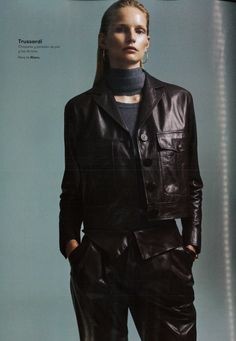TRUSSARDI leather total look from the Fall Winter 2015/16 collection - L'Officiel Spain