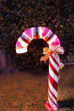 This article shows how to make a lighted PVC candy cane decoration to use during the cheery holiday season.
