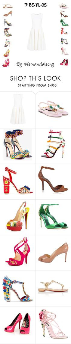"""7 Syles"" by fleony on Polyvore featuring moda, ADAM, Dolce&Gabbana e Christian Louboutin"
