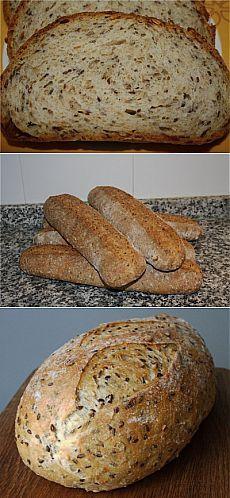 Пшеничный зерновой хлеб на закваске : Хлеб, батоны, багеты, чиабатта