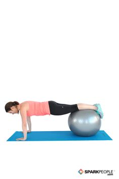 Advanced Pushups on the Ball Exercise Demonstration