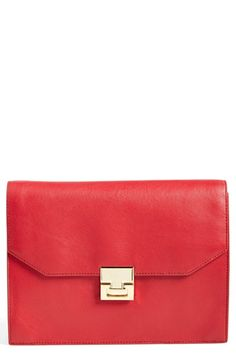 Ivanka+Trump+'Hopewell'+Leather+Clutch+available+at+#Nordstrom