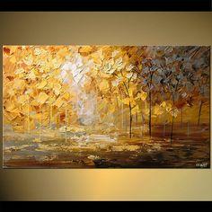 Modern Palette Knife Landscape Acrylic Painting 40 by OsnatFineArt