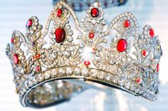"""Napoleon ordered this tiara in 1810 for his second wife, Marie Louise of Austria (Marie Antoinette's niece). Napoleon understood that age-old saying, """"Happy wife, happy life,"""" so he ordered all new jewels for Marie Louise instead of trying to snatch back the ones he'd bought for Josephine (like that would have worked anyway).   See a new tiara every Tuesday on http://JenniWiltz.com/blog. #tiaratuesday"""