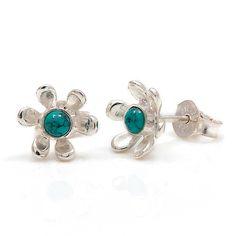 Gemstone Flower Stud Earrings by Charlotte's Web | Charlotte's Web