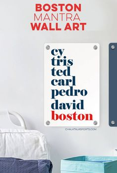Decorate your favorite room with your Red Sox Pride! Baseball Room Decor, Gifts For Baseball Players, Personalised Frames, Room Signs, Metal Wall Art, Cave, Boston, Pride, Great Gifts
