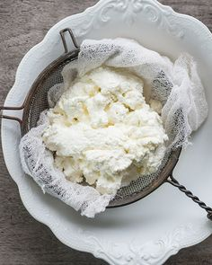 Homemade Fresh Ricotta: Great recipes and more at http://www.sweetpaulmag.com !! @?? ?? S. Paul Magazine