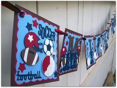 Handmade Banner  Custom made  GO GREEN  Name Banner by nadyasworld, $35.00