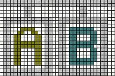 Free Alphabet Pattern (created for cross stitch. . but good for all kinds of needlepoint, like plastic canvas)