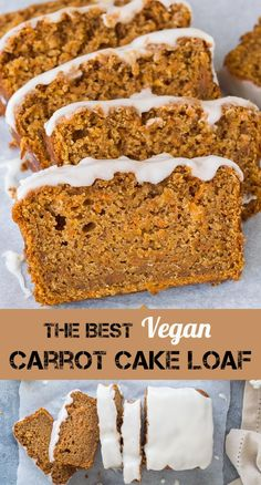 Vegan carrot cake loaf – this is the best vegan carrot cake! Easy to make, moist… Vegan carrot cake loaf – this is the best vegan carrot cake! Easy to make, moist, sweet and spicy with a zingy lemon glaze; this loaf cake is perfect for snacking on. Carrot Cake Loaf, Vegan Carrot Cakes, Carrot Recipes, Vegan Dessert Recipes, Loaf Cake, Cake Recipes, Icing For Carrot Cake, Eggless Carrot Cake, Easy Carrot Cake
