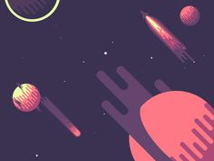 Dribbble - Space @ 45° - Day by Seth Eckert