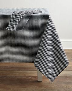 Divine Designs USA Inc. Houndstooth Napkins & Tablecloth: http://www.stylemepretty.com/living/2015/11/21/thanksgiving-dinner-table-linens-and-decor/