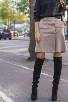 filippa k wrap button skirt