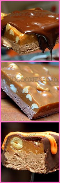 HOMEMADE SNICKERS BARS!!!!!
