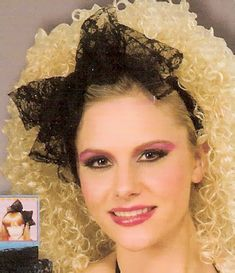 80s hair--true colors...where can I get a lace headband like this?