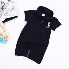 e3d02a731dc Newborn boys baby gentlemen polo romper clothes