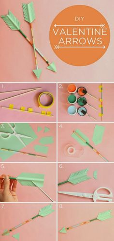 DIY Valentine's arrows