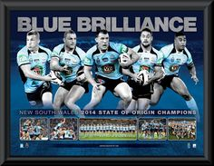 Rugby League, New South, Champion, Blues, Baseball Cards, Sports, Poster, Image, Hs Sports