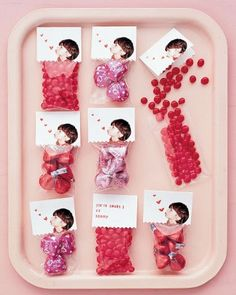 Valentine's Day Treat Packages                                 To make these custom treat packages, cut out a picture of your child, scan it...
