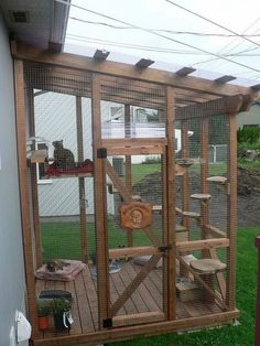 So transformieren Sie eine IKEA-Bibliothek in Catio, So transformieren Sie eine IKEA-Biblioth. - Cat playground outdor - How to create a perfect outdoor play area Diy Cat Enclosure, Outdoor Cat Enclosure, Gatos Cat, Ikea Bookcase, Cat Cages, Bunny Cages, Outdoor Cats, Cat House Outdoor, Outside Cat House