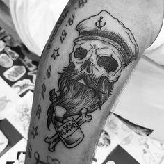 Sailor skull done by @rustemhorzum at @tattoostudio115 Bergen, Norway