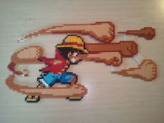 Awesome Luffy - One Piece made from hama beads
